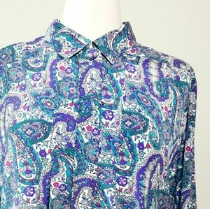 Vintage Paisley Alfred Dunner Blouse